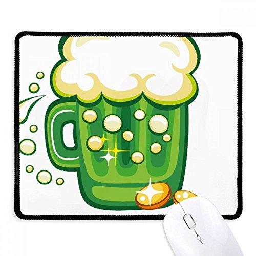 DIYthinker vier blaadjes klaver bier Ierland St.Patrick's dag anti-slip muismat spel kantoor zwart Titched Edges gift