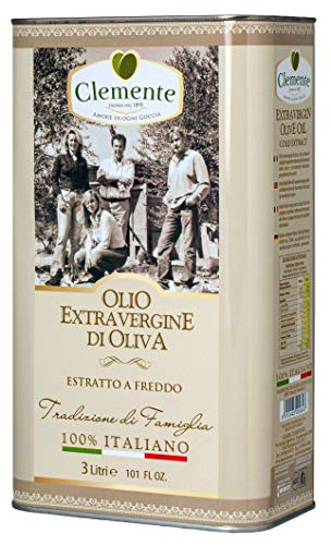 Olio Clemente - 1 Lattina di Olio Extra Vergine di Oliva, 100% Italiano, Tradizione di Famiglia, 3 Litri