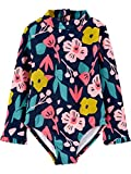 Simple Joys by Carter's 1-Piece Assorted Rashguard Sets Infant-and-Toddler-Sun-Protective-Swimwear, Floral, 18 Meses