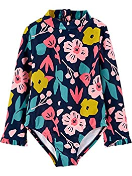 Simple Joys by Carter s Girls  1-Piece Assorted Rashguard Sets Floral/Navy 4T