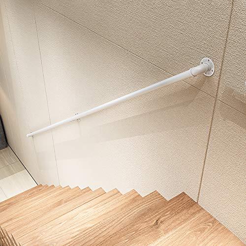FS Weißer Handlauf - Komplettset. Schmiedeeisen Wasser Rohr Design Treppe handläufe, Treppengeländer Support Kit für drinnen und draußen, Decking Geländer(Size:280cm)