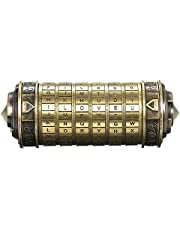 Decdeal Da Vinci Code minicryptex slot, metalen speelgoed, sieraden verstopplaats, huwelijksgeschenk, voor Valentijnsdag of Kerstmis, als cadeau, wachtwoord beschikbaar