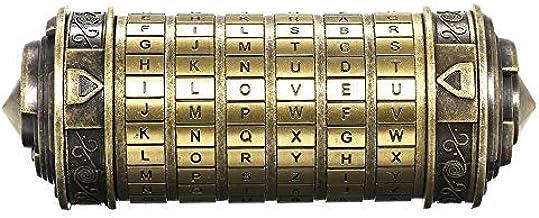 Decdeal Da Vinci Code minicryptex slot, metalen speelgoed, sieraden verstopplaats, huwelijksgeschenk, voor Valentijnsdag o...
