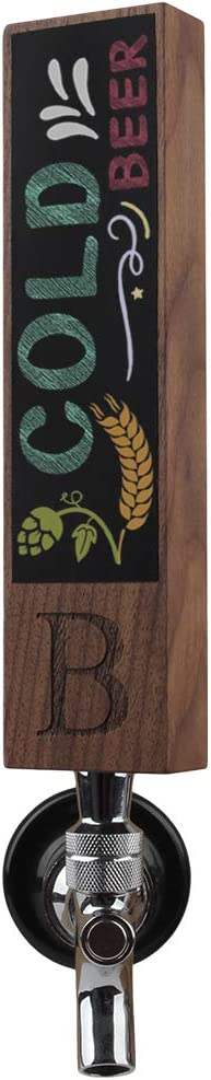 Monogrammed B Chalkboard Beer Tap for New products world's highest quality popular Home Limited time sale Kegerator Brew Handle