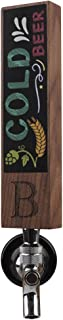 Monogrammed B Chalkboard Beer Tap Handle for Home Brew Kegerators, Home Bar, Kegerator Tap Handles, Gift for Him, 8 Inch Tall Walnut Wood
