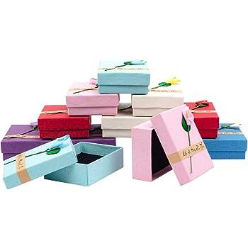 Couleurs m/élang/ées nbeads 24/pcs carr/é Carton Cadeau de Cases Bo/îtes Bracelet Support daffichage 9,1/x 9,1/x 2,3/cm