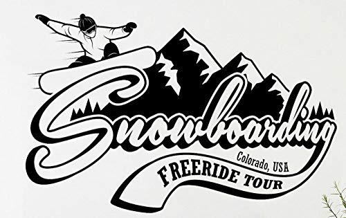 Axlgw Vinyl Wandtattoo Snowboard Berge Colorado Extreme Wintersport Wandaufkleber Home Decoration Zubehör Für Wohnzimmer Größe 57X36Cm