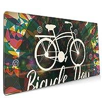 人気lsd - Albert Hofmann - Bicycle Day (4) ワイヤレス マウスパッド 耐久性が良い 防水 滑り止めゴム底 ゲーム オフィス 多機能 マウスパッ