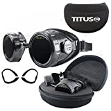 TITUS Welding Safety Goggles with Interchangeable Lenses (High: #9,...
