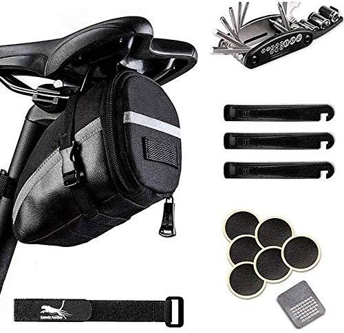 Bike Bag Under Saddle Bicycle Repair Tool Kit Bag MTB Bike Saddle Bag Waterproof Cycling Wedge Pack Bag Under Seat Bike Tail Bag Bag Kit