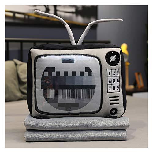 HONGYMY Juguete 1 UNID SIMULACIÓN Radio TELEVISIÓN TELEVISIÓN TIRY TEJEROS con MANTES Relleno Sofá Suave Almohada Muñecas Toy (Color : 5, Height : 40CM)