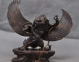 Old Tibet Tantra Buddhism Bronze Eagle Redpoll King Bird Garuda Buddha Statue A