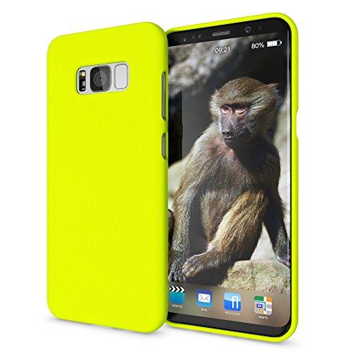 NALIA Cover Neon compatibile con Samsung Galaxy S8, Custodia Protezione Ultra-Slim Neon Case Protettiva Morbido Cellulare in Silicone Gel, Gomma Telefono Smartphone Bumper Sottile, Colore:Giallo