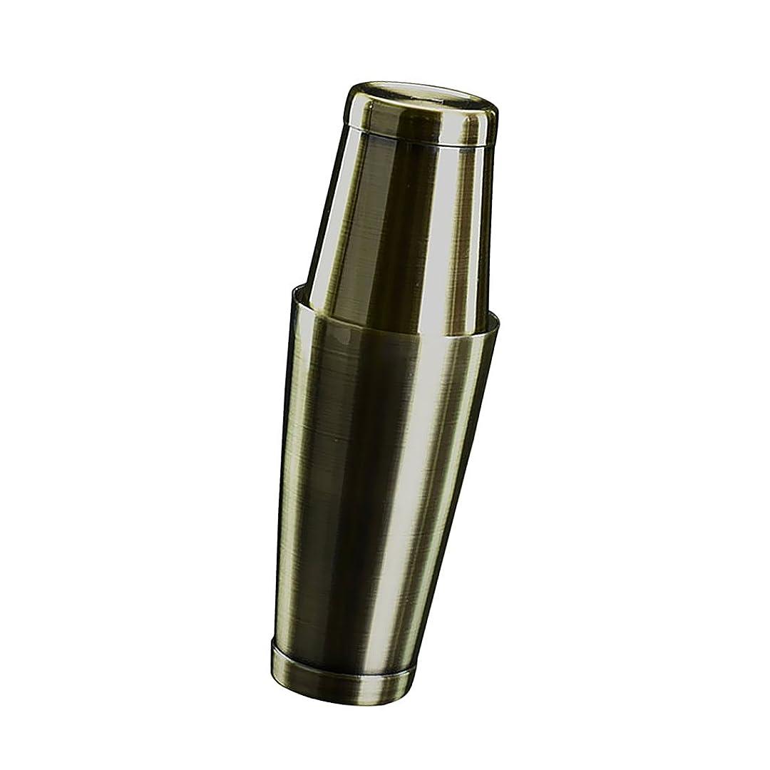 立ち寄る柔らかさ野菜Homyl 5色選ぶ 800ml+500ml 2個セット シェーカー ボストンシェーカー 酒 バー用 サービス器具 調理道具 - ブロンズ