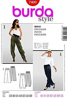 Burda Ladies Easy Sewing Pattern 7400 Harem Pants