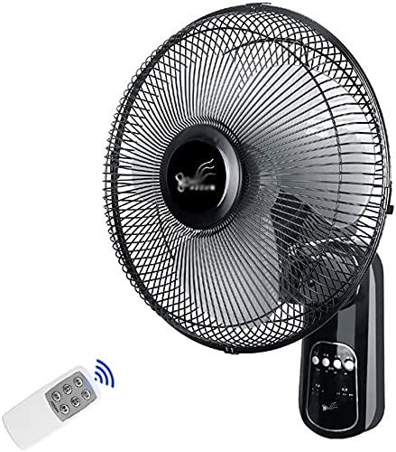 YZPLDD Wall Mount Fan, Family Dormitory Silent 3 Speed Remote Wall Fan Swing Fan 12inch