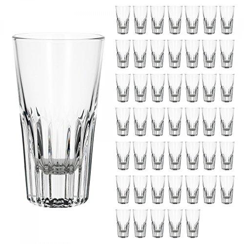 Bormioli 48er Set Rialtobecher Arosa 160 ml Likörgläser Whiskybecher kleines Longdrinkglas Glas kristallklar Gastronomie