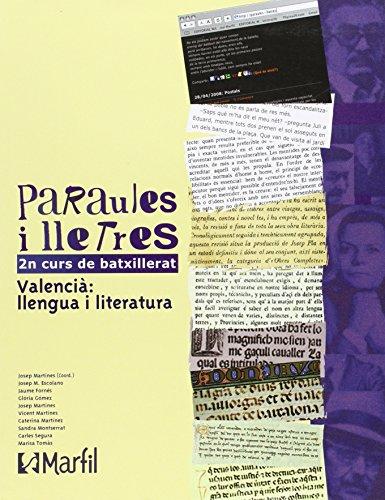 Bach 2 - Paraules I Lletres 2 Batxillerat Pau (valencia) - 9788426815217
