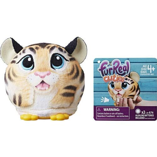 FurReal Cuties Palm Pets Mini Tiger Animal Soft Toys Dolls With Sounds Age 4+