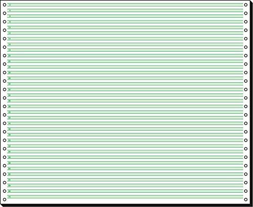 SIGEL 45371 Endlospapier 12 Zoll x 375 mm (A3 quer), 60 g TCF, 2000 Blatt 1fach, mit Leselinien
