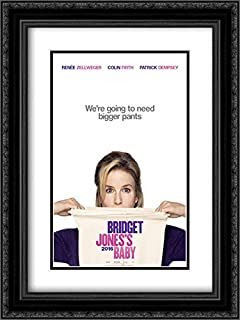 Bridget Jones's Baby 18x24 Double Matted Black Ornate Framed Movie Poster Art Print