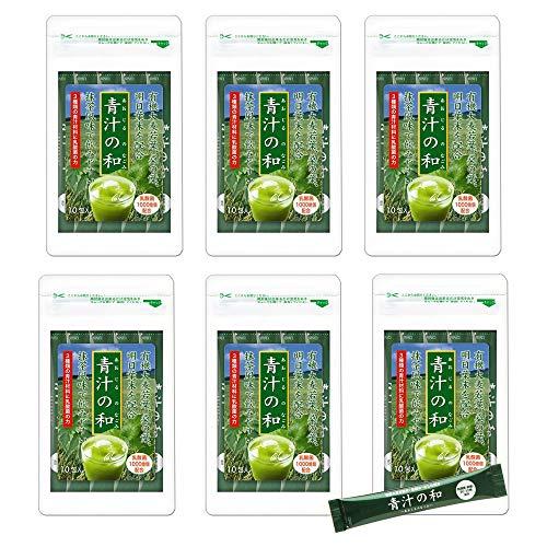 大日ヘルシーフーズ 青汁の和 6袋(3g×10包) 乳酸菌 大麦若葉 桑の葉 明日葉 配合 スティックタイプ 青汁