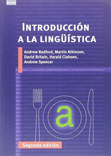 Introducción a la Lingüística: Segunda Edición: 30