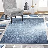 Home Dynamix Lyndhurst Rotana Modern Area Rug, Contemporary Blue/Gray/Ivory 7'8'x10'7'