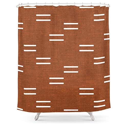 """Society6 Double Dash - Burnt Orange by Little Arrow Design Co. on Shower Curtain - 71"""" by 74"""""""
