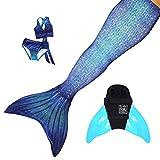 Sun Tails Set Premium Meerjungfrauenflosse Ocean Deep Mermaid Meerjungfrau Schwimmen Spass Tauchen...