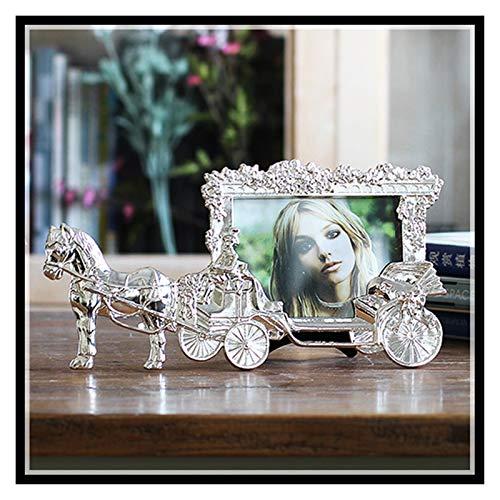 JUNQIAOMY Marco de la Foto Marcos de Fotos de Cajas Classic Carrillo de 5 Pulgadas para Imagen Europeo Foto Foto Decoración de Mesa