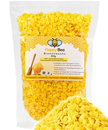 100 % Pure Cire d'abeille Pastilles - 200 g - Parfait pour les cosmétiques et la fabrication de bougies