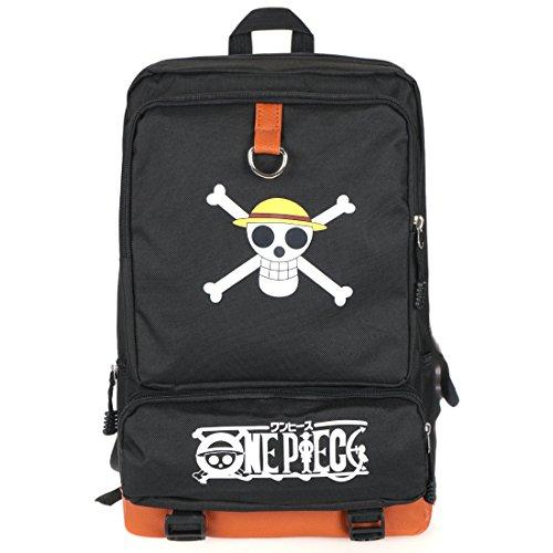CoolChange Mochila de One Piece con Jolly Roger de la Tripulación de