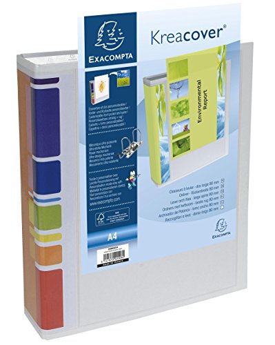 Exacompta Präsentations-Ordner KreaCover A4/200802H für DIN A4+ weiß 80mm