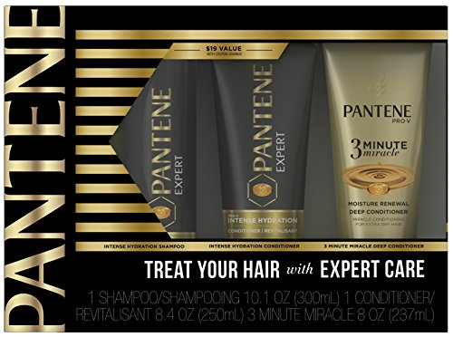 Pantene Expert Intense Hydration Shampoo and Conditioner with 3 Minute Miracle Moisture Renewal Set