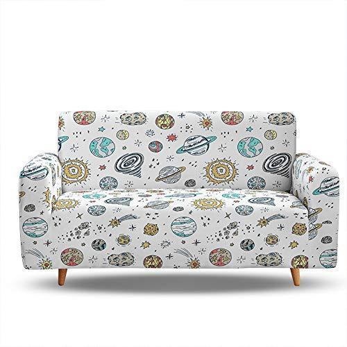 SETSCZY Fundas de Sofá Elasticas de 1 2 3 4 Plazas Universal Funda Cubre Sofas Ajustables, Antideslizante Protector Cubierta de Muebles Funda de sofá Starry Sky,A,4 Seater