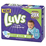 Luvs Luvs Triple leakguards Diapers Size 2 31 Count, 31 Count