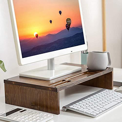 SKAL Soporte Monitor Ordenador Elevador de Monitor Pantalla Organizador para Escritorio Bambú