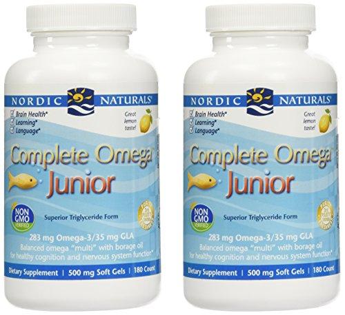 NORDIC NATURALS Omega 3.6.9. Junior 180 Count - 2 Pack