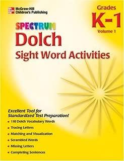 Spectrum Dolch Sight Word Activities, Volume 1