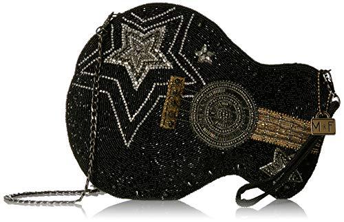 MARY FRANCES Damen Beaded Guitar Handbag Superstar Crossbody-Tasche, Gitarre, Handtasche mit Perlen, schwarz, Einheitsgröße