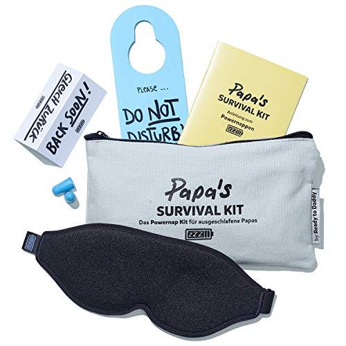 Papa Survival Kit - Das Powernap Kit Geschenk für ausgeschlafene Papas und werdende Väter