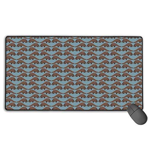 Neuheit Pangolin Mousepad Anti-Rutsch-wasserdichte Mausmatte Desktop-Laptop Tastatur Mauspad Gaming Mauspad 15,7 x 29,5 Zoll