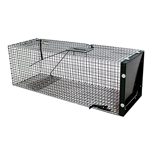 Moorland Safe 5002 Lebendfalle 90x30x30cm stabile Falle als Marderfalle, Katzenfalle, Fuchsfalle, Rattenfalle Kastenfalle mit Falltür und geschütztem Handgriff – Tierfalle