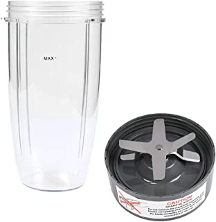 QLOUNI Blender Cups and Blade Replacement, Blender Replacement Parts for Nutribullet Blender, 32OZ Cup with Replacement Ex...
