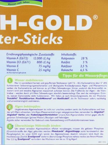 Söll 14643 TeichGold Futter-Sticks – Alleinfuttermittel für alle Teichfische – schwimmfähige Teichsticks – 7,5 l - 5