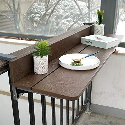 Folding table Hängender Klapptisch-1,2 m Balkon Klapptisch Verstellbarer Laptop-Computertisch, Hebeklapptisch, Esstisch Klapptisch Gartenterrassenmöbel Tisch