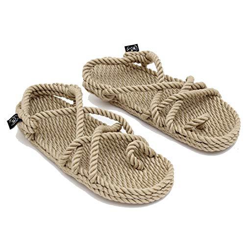 Nomadics Toe Joe Unisex-Erwachsene Sandale aus Seil Camel, 38