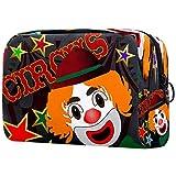 Bolsa de maquillaje con diseño de payaso de circo para niños y niñas