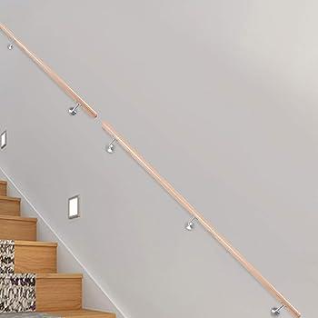 Pasamano de la Escalera 200CM Pasamanos de Madera Maciza Barandilla de Pared para Escaleras Internas y Externas: Amazon.es: Bricolaje y herramientas